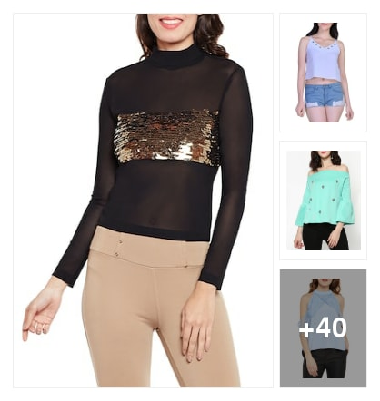 Beautiful party wear tops . Online shopping look by Tiny