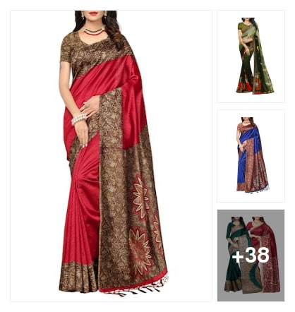 Beautiful sarees. Online shopping look by Visu