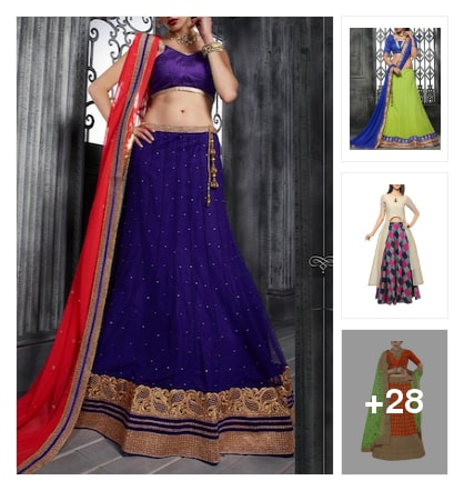 Beautiful lehengas . Online shopping look by chow