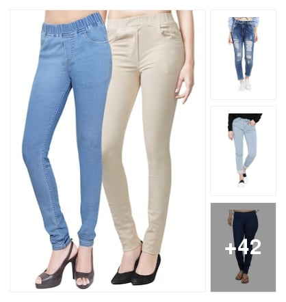 Jeans and leggen. Online shopping look by chow