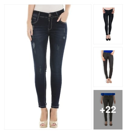 Cotton jeans. Online shopping look by Ruchika