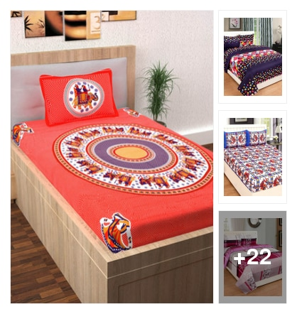 Colourful bedsheets. Online shopping look by ramakrishna