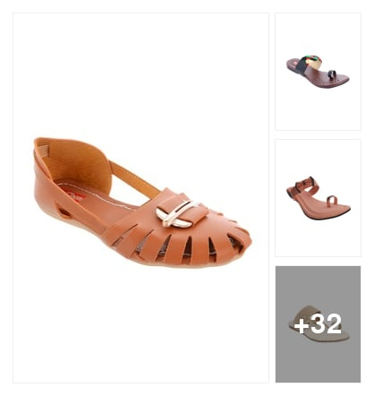 Flats for u. Online shopping look by Chauhan