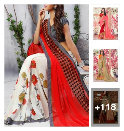 All types designer party ware sarees. Online shopping look by Krishna
