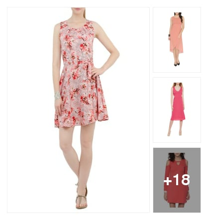 Pink dresses for pretty looking . Online shopping look by karuna