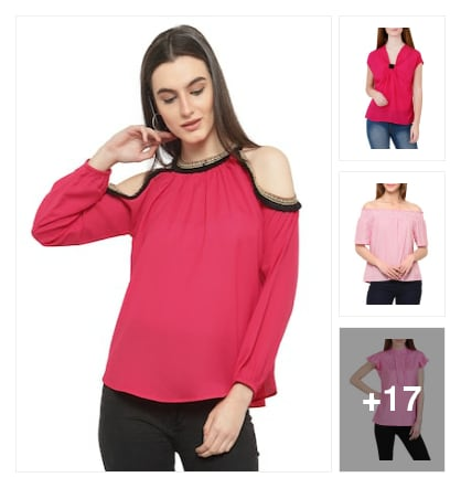 Tops for beautiful ladies . Online shopping look by karuna