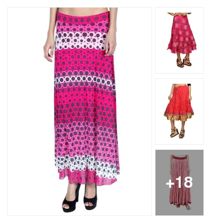 Pink skirts for you . Online shopping look by karuna