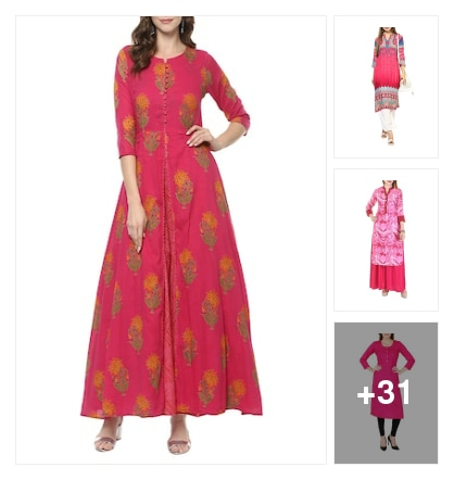 Stealdeal...pink kurta. Online shopping look by Chauhan