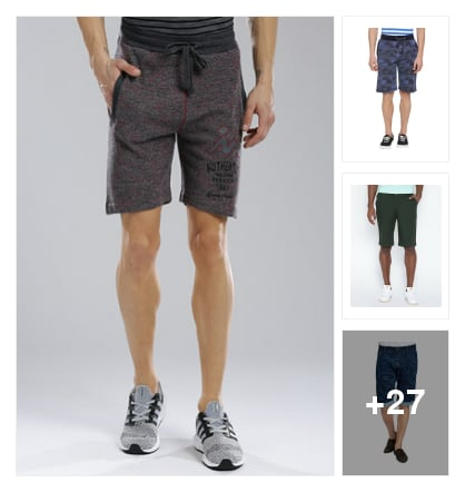 shorts for men. Online shopping look by Maheswara