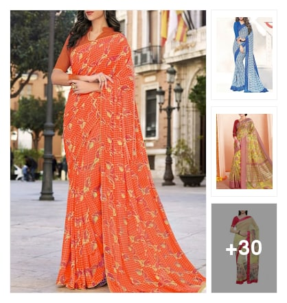 Crazy sarees for women. Online shopping look by kavya