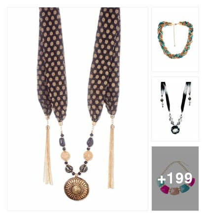 Beautiful necklaces for women and leads amazing stone work . Online shopping look by kalpana