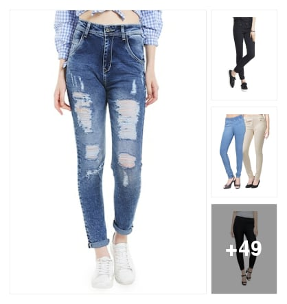 Jeans look. Online shopping look by jyothi