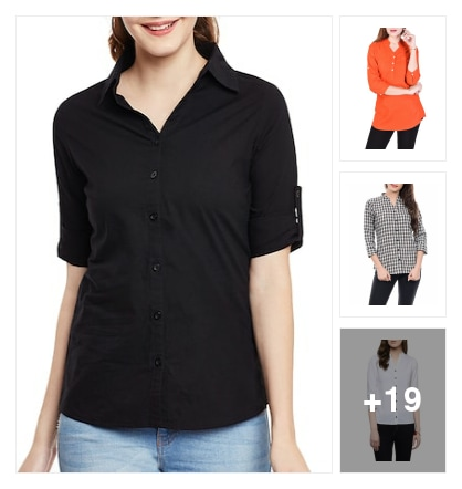 Shirts for women. Online shopping look by vikas