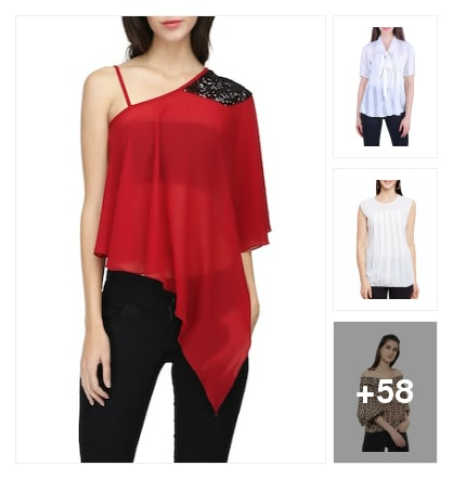 Georgette tops. Online shopping look by Tiny