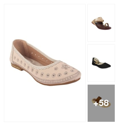 flats collection for you. Online shopping look by shanthi