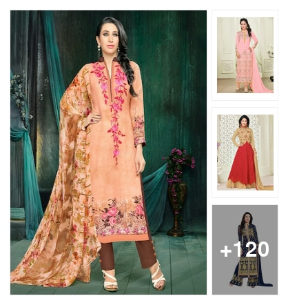 Unstiched suit dress material . Online shopping look by santhi