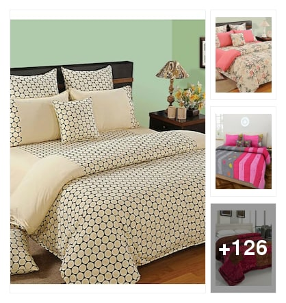 mixmatch bedsheets. Online shopping look by Kumar