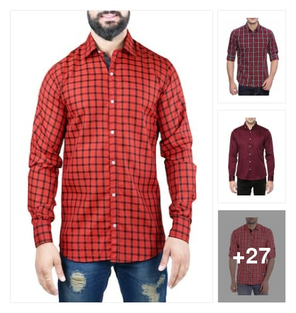 """Trend alert :- red colour shirt's !!"". Online shopping look by Kinki"