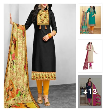 New Arrival Dressmaterials . Online shopping look by suryagupta