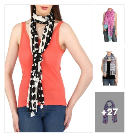 Fresh stoles to style with. Online shopping look by Lucky