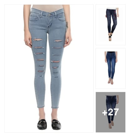 stylies jeans. Online shopping look by rishi