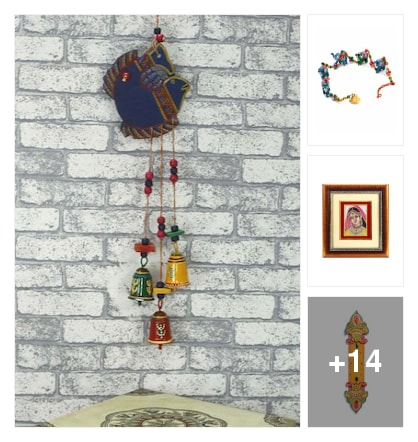 Wall hanging look. Online shopping look by kavita