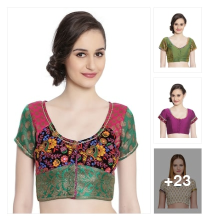 stylies blouses. Online shopping look by rishi