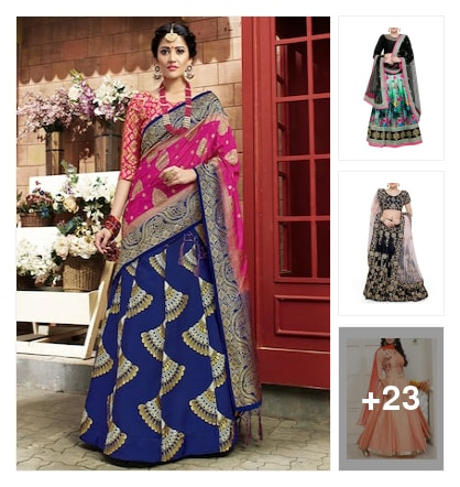 stylies lehengas. Online shopping look by rishi