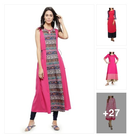 Let's think pink. Online shopping look by krunal