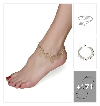 Anklets and payal for beautiful feet. Online shopping look by sravani