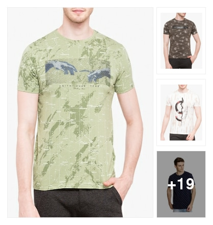 Trend alert :- All over print t- shirt's. Online shopping look by Kinki