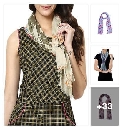 Scarves. Online shopping look by Sree reddy