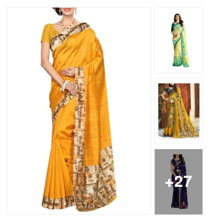Grand look Sarees. Online shopping look by Supreme