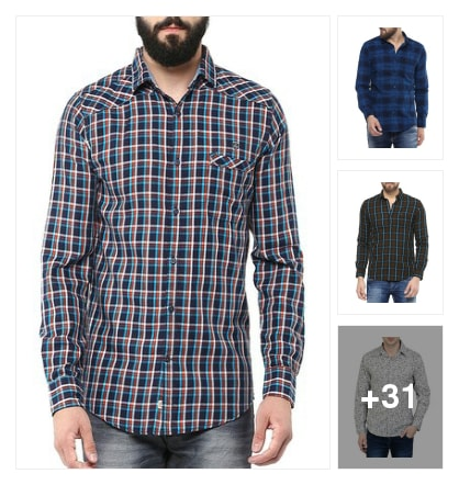 Cotton Casualshirts. Online shopping look by sravana