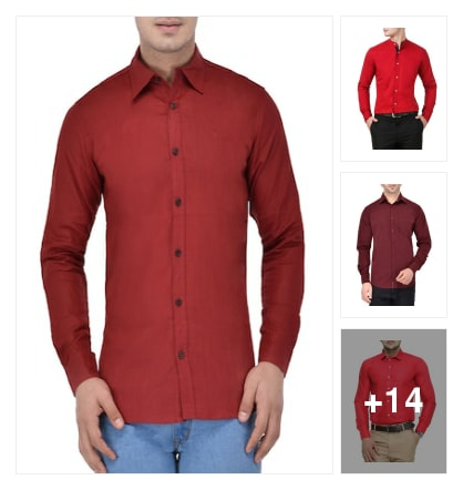 Red colour shirts . Online shopping look by jesunath