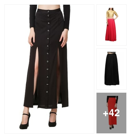Maxi type skirts. Online shopping look by nikku.gupta512