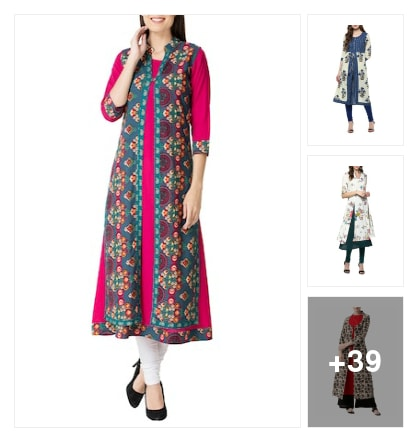 Jacket Kurtis. Online shopping look by Jayasmita