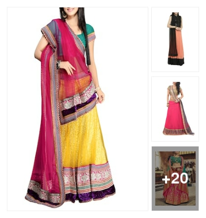 smart lehengas. Online shopping look by Subha