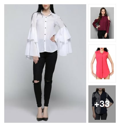 Stunning look shirts for women. Online shopping look by muthula