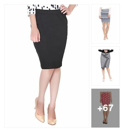 Pencil skirt for you. Online shopping look by nikku.gupta512