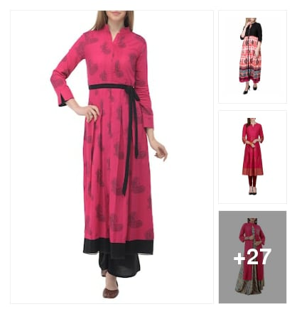 Elegant  Kurtas  fpor  Prettiest  Hue. Online shopping look by buddy