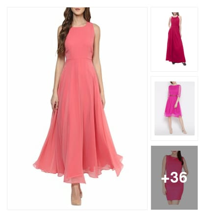 Enchant  Dresses  for  Prettiest  Hue. Online shopping look by buddy