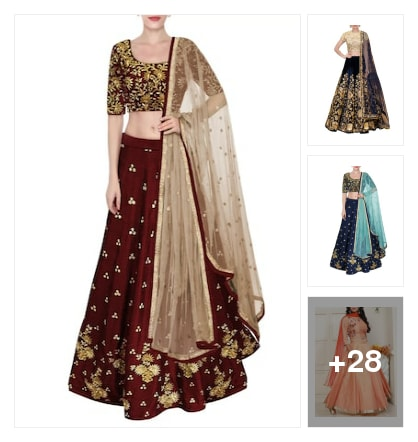 Beautiful Lehengas for beautiful ladies. Online shopping look by nikku.gupta512