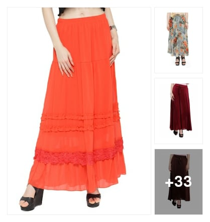 skirts. Online shopping look by Govind