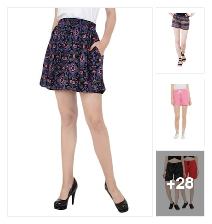 Skirts and shorts. Online shopping look by kumar