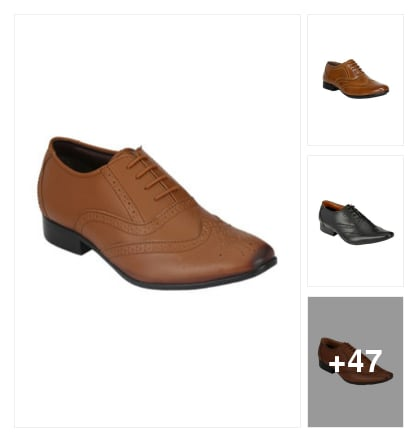 Young officer s used formal shoes. Online shopping look by Dr.