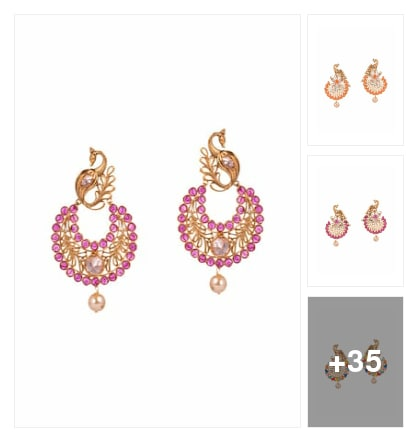 Colourful collection of earnings . Online shopping look by Geeta