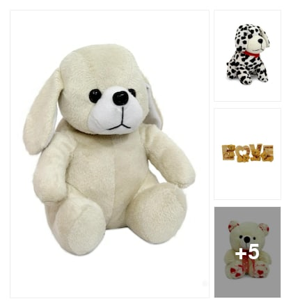 Cute puppy teddy :: for small kids. Online shopping look by kavita