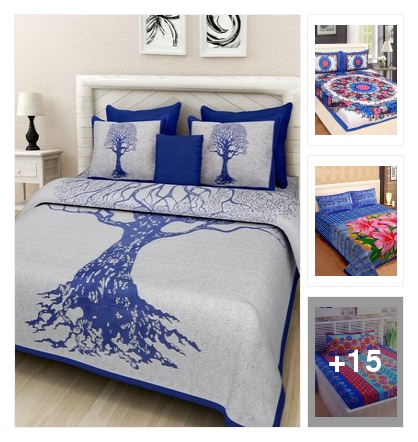 King size bedsheets look. Online shopping look by kavita