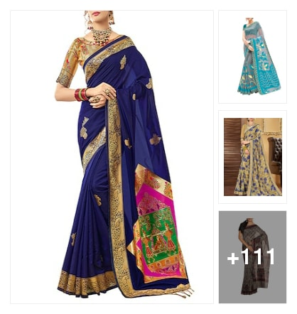 All bright and beautiful Saree collections for fashionable ladies and girls. Online shopping look by Pinki